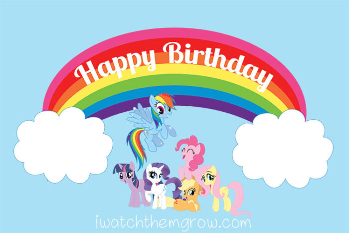 Rainbow Dash Birthday Cake Clip Art