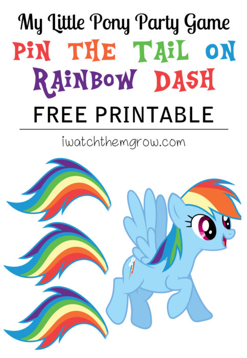 Pin the Tail on Rainbow Dash Free